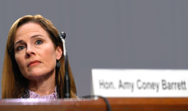 supreme court nominee judge amy coney barrett testifies on the third day of her confirmation hearing before the senate judiciary committee on capitol hill on october 14, 2020 in washington, dc