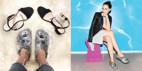 Leg, Shoe, Outerwear, Human leg, Style, Collar, Fashion, Blazer, Foot, Bag,