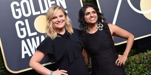 Amy Poehler Saru Jayaraman Golden Globes