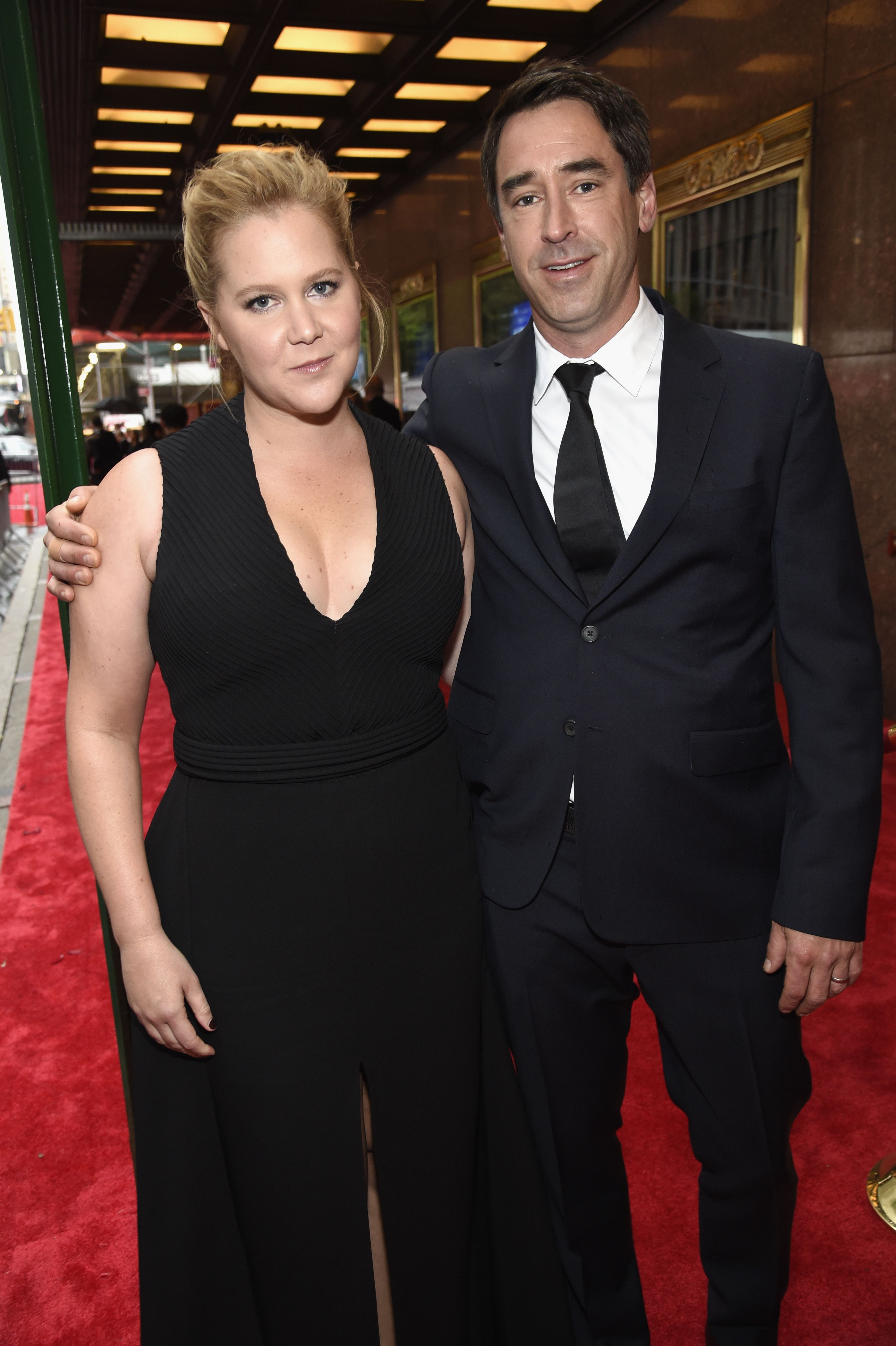 Actress and comedian Amy Schumer shocked the press when she revealed her secret February wedding to chef Chris Fischer via Instagram .