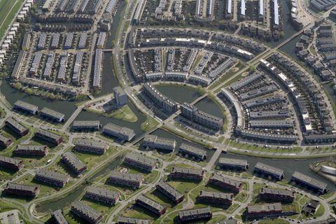 aerial view of residential area, amersfoort