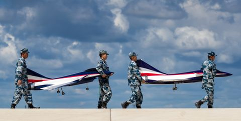 Red Falcon Air Demonstration Team Performs In Changchun