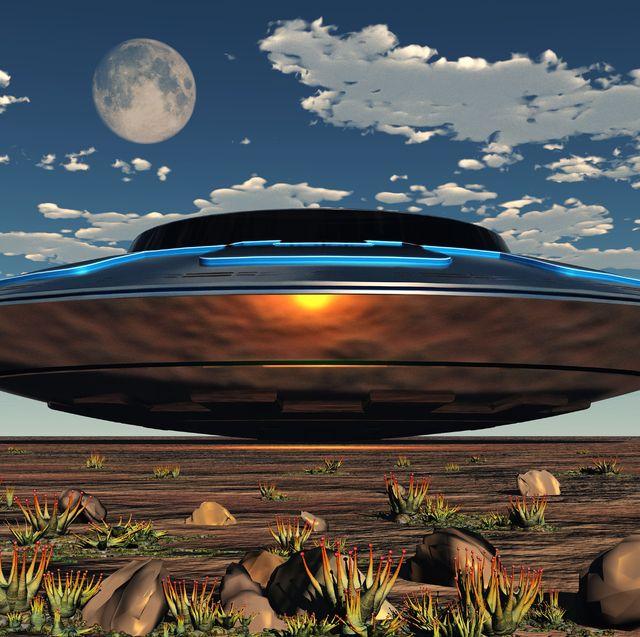 An Alien UFO Landing Site