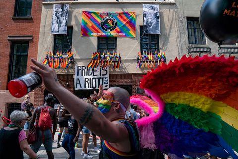 gay rights rally held in manhattan during pride weekend