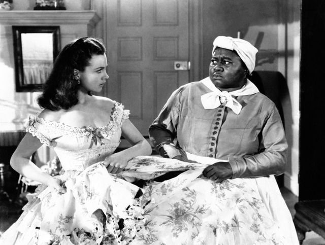 vivien leigh and hattie mcdaniel in a scene from the movie gone with the wind