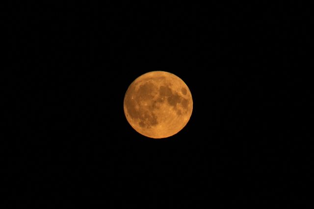 an extremely rare friday the 13th full harvest moon