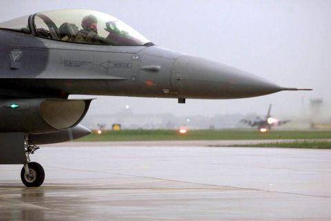 F 16 Pilot From The 510th Fighter Squadron