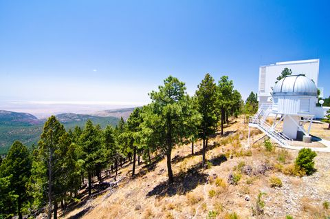An observatory telescop at Sunspot, New Mexico