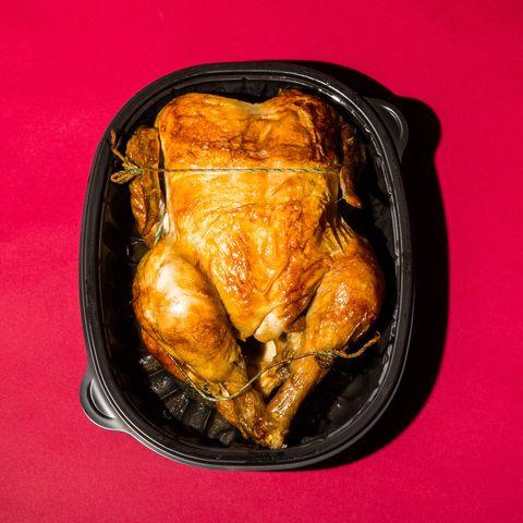 An organic rotisserie chicken
