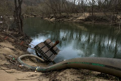 martin county, ky   april 2 an overturned float rests on the s