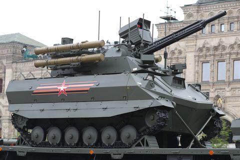répétition du défilé du jour de la victoire à Moscou