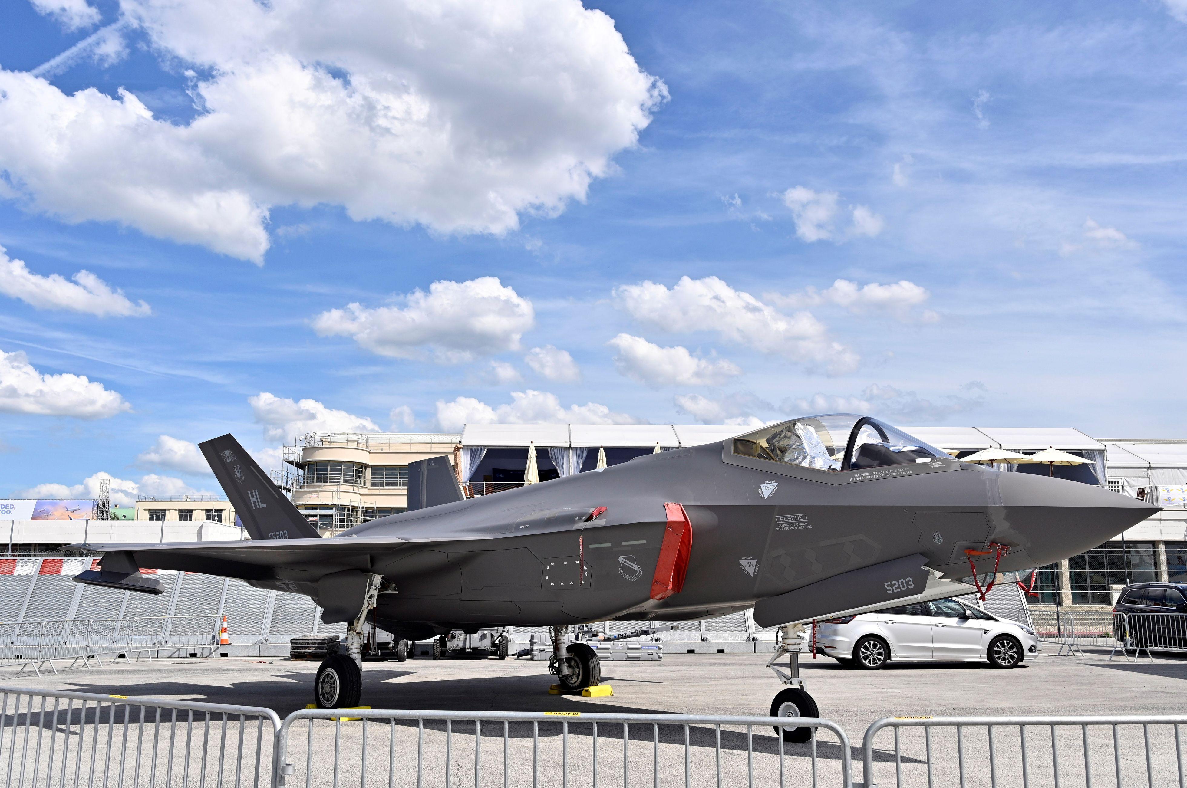 F-35 em exposição no Paris Air Show 2019 [Agência Anadolu Getty Images]