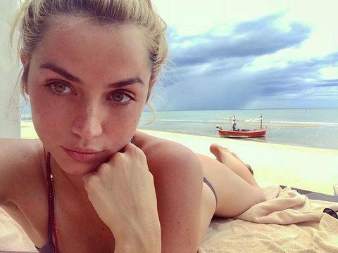 Face, Skin, Beauty, Sun tanning, Summer, Blond, Vacation, Eye, Photography, Leg,