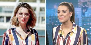 Leticia Dolera y Ana Guerra con un look de Dolores Promesas