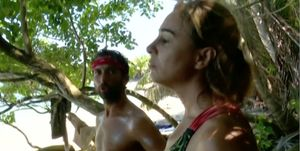 Ana María Aldón y Antonio Pavón felices tras su reencuentro en Playa Desvalida