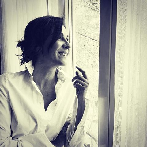 Facial expression, Beauty, Black-and-white, Human, Mouth, Smile, Lip, Smoking, Hand, Finger,