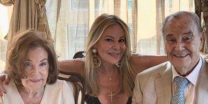 Ana Obregón en el 65 aniversario de sus padres