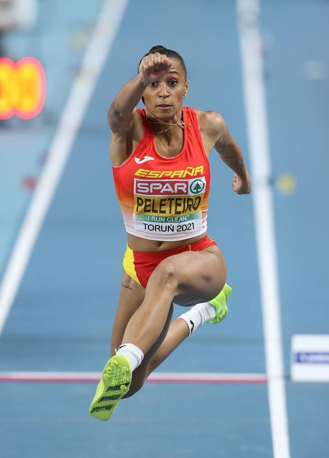 ana peleteiro salta triple en el europeo de atletismo de torun 2021, donde ganó la plata