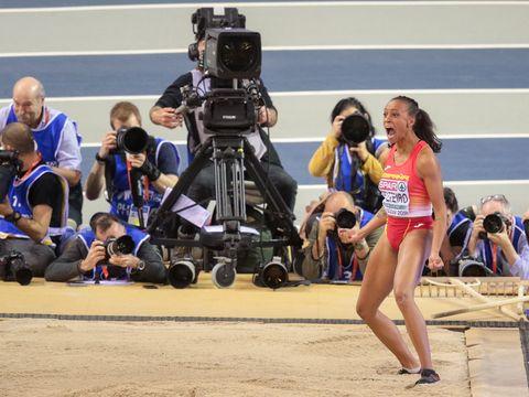Ana Peleteiro carbura en el triple salto de Padua