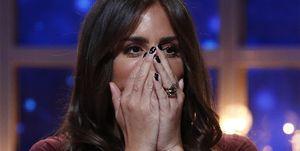 Anabel Pantoja se tapa la boca en GH DÚO