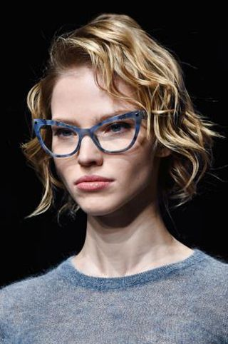 Eyewear, Vision care, Lip, Hairstyle, Chin, Forehead, Eyebrow, Mammal, Style, Jaw,
