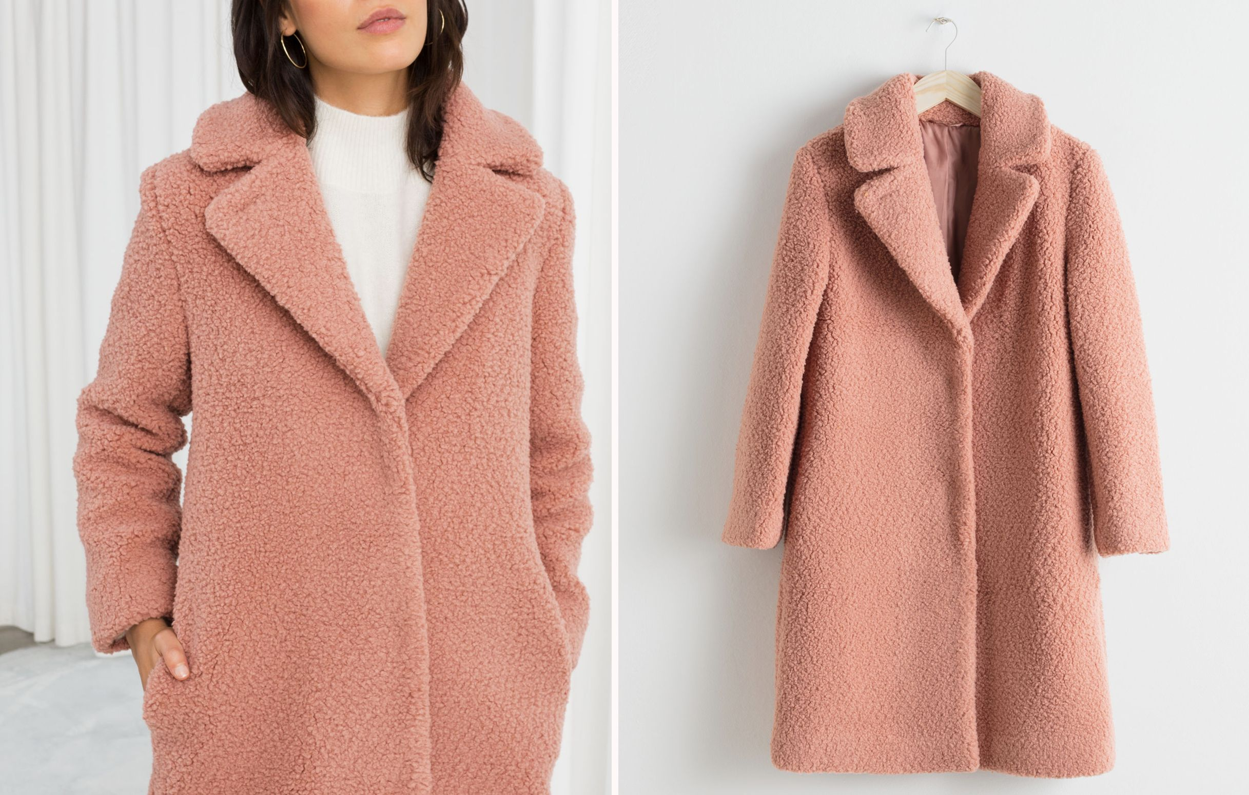 afb9d547 & Other Stories is selling the cosy coat of the season in chic blush pink