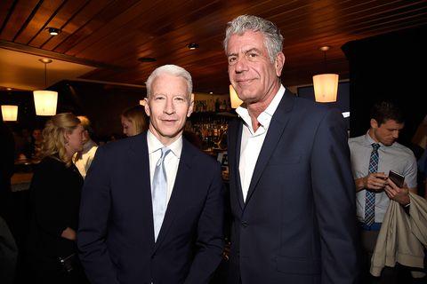 Anthony Bourdain Anderson Cooper Turner Upfront 2016