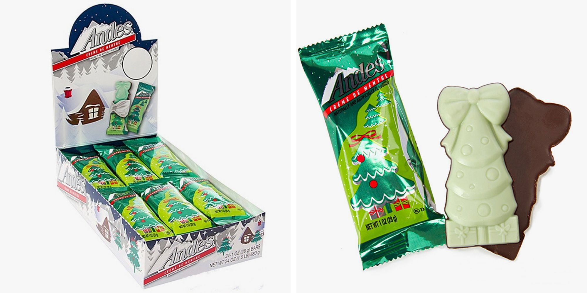 Andes Crème de Menthe Thins Now Come as Christmas Trees for the Holidays