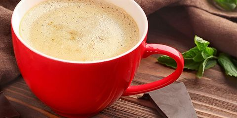 Coffee cup, Cup, Serveware, Drinkware, Dishware, Teacup, Coffee, Ingredient, Leaf vegetable, Drink,
