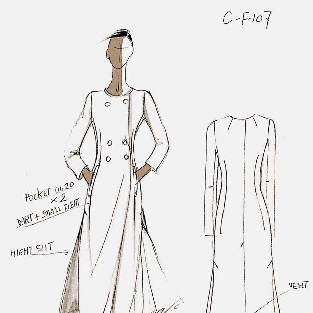 Clothing, Pattern, White, Fashion illustration, Costume design, Day dress, Fashion design, Dress, Shoulder, Pattern,