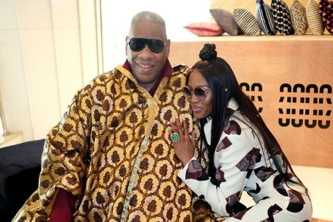 andre leon talley and naomi campbell attend day two of arise fashion week on april 20, 2019 in lagos, nigeria