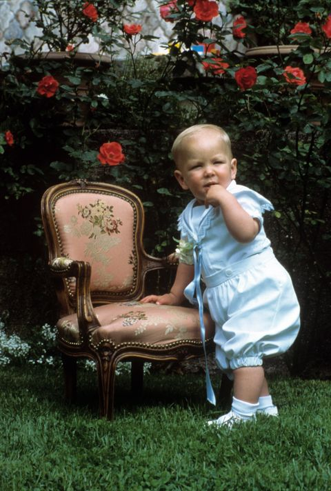 The Little Andrea Casiraghi In The Garden
