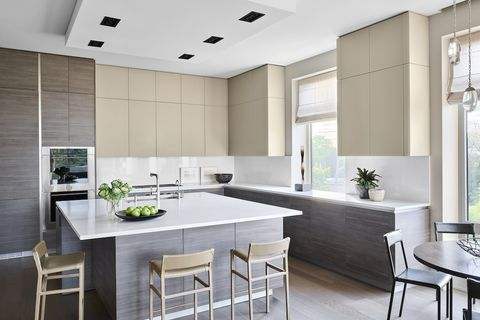 Countertop, Room, Furniture, White, Kitchen, Interior design, Cabinetry, Property, Building, Ceiling,