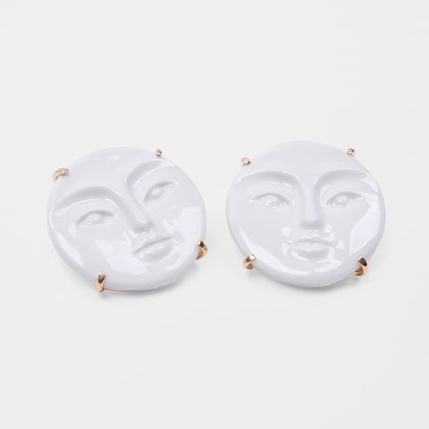 White, Earrings, Fashion accessory, Jewellery, Circle, Locket,