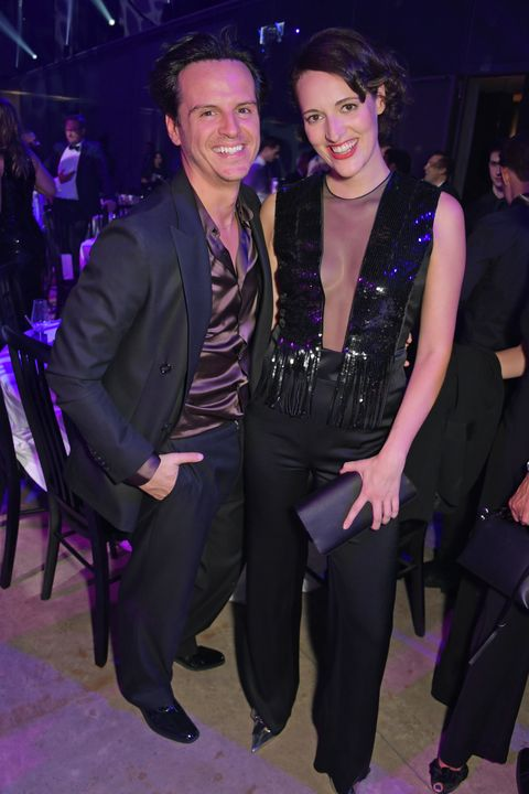andrew scott and phoebe waller bridge attend the the gq men of the year awards 2019 in association with hugo boss at the t