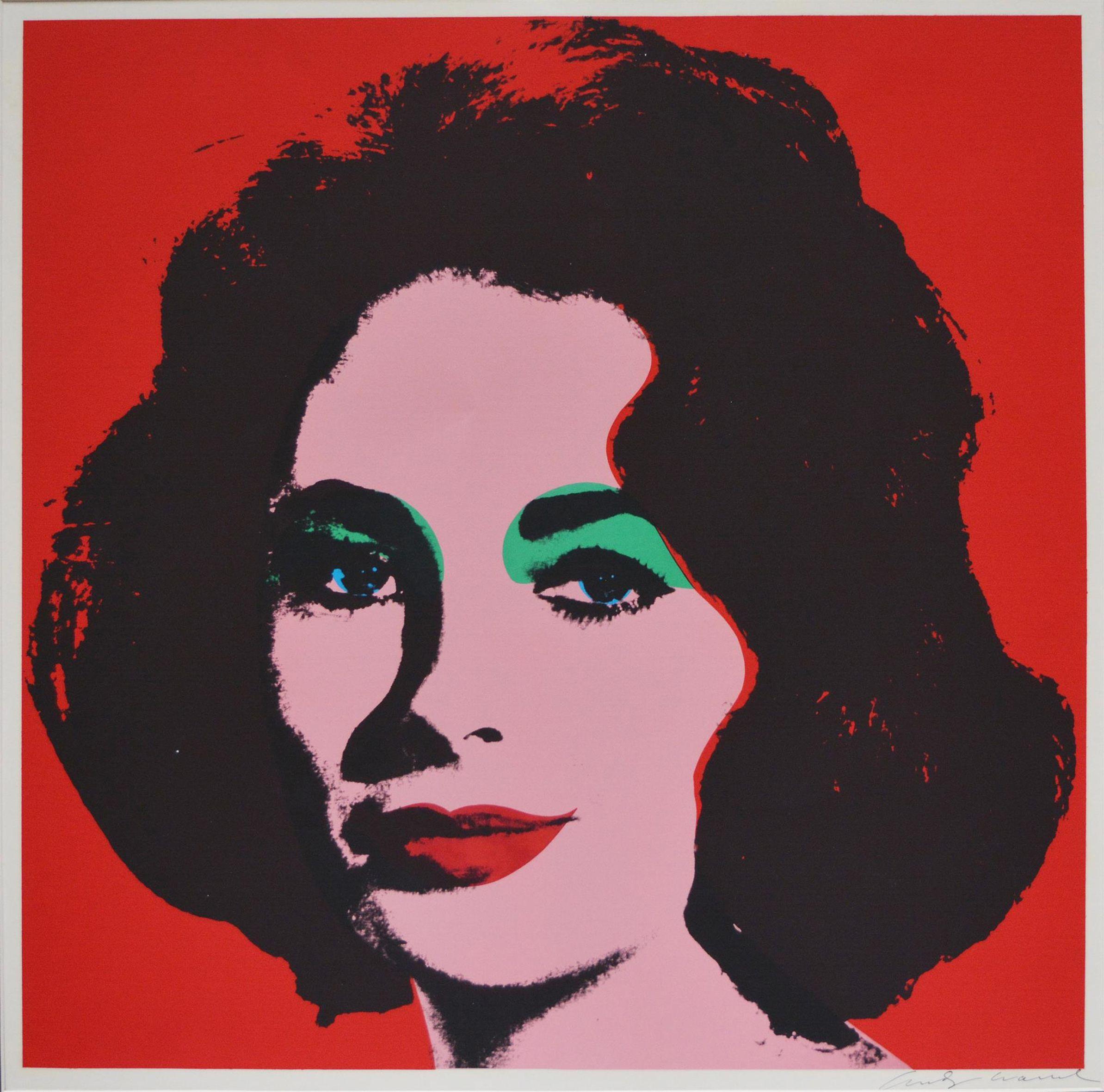 Andy Warhol  -Liz Taylor