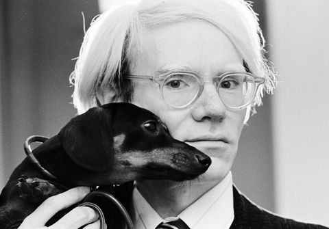 andy warhol and his dog archie