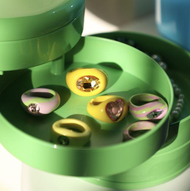 anelli plastica colorata