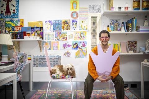 adam nathaniel furman in his studio
