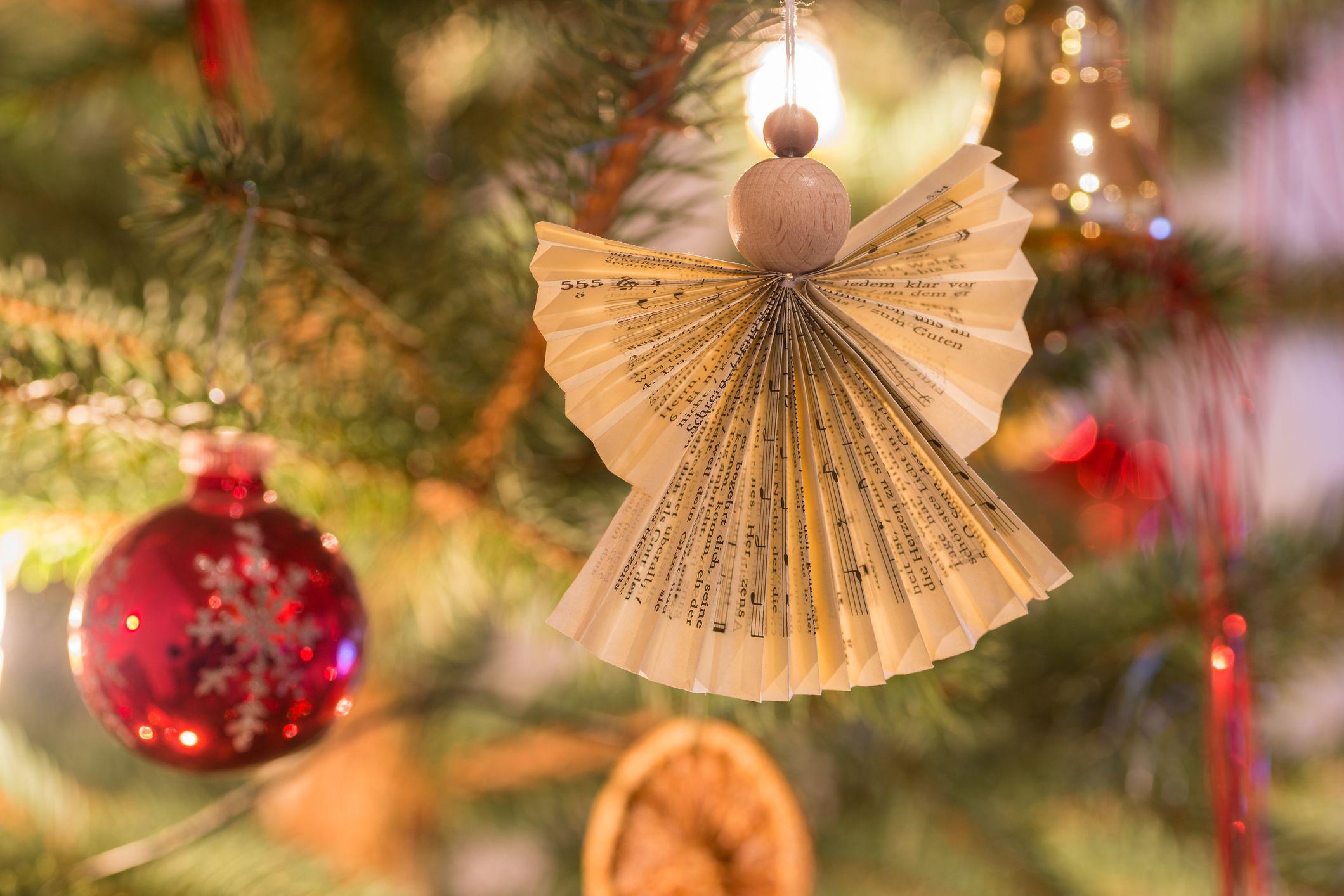 20 DIY Angel Ornaments , Easy Angel Christmas Ornament Ideas