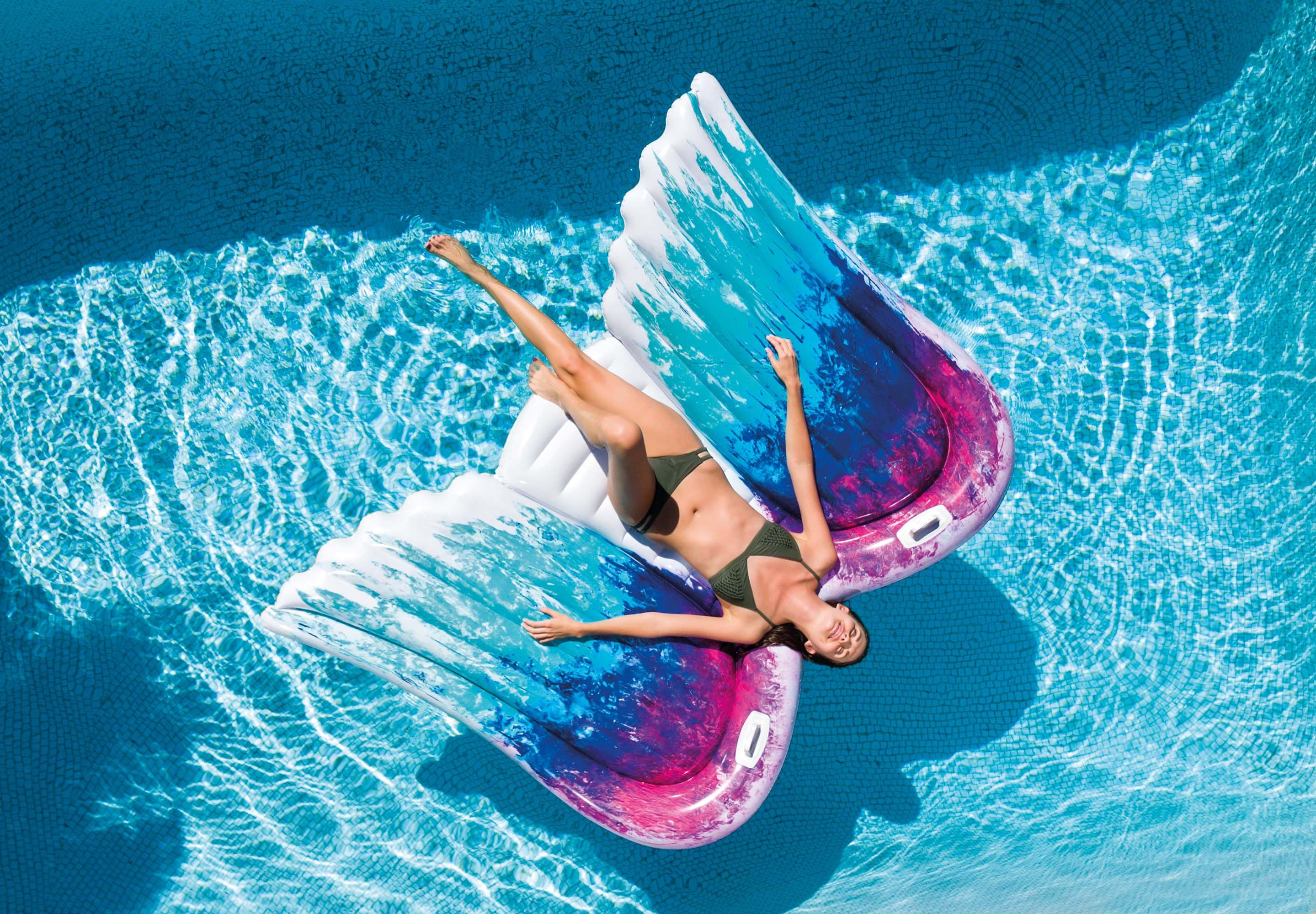 Inflatable Pool Floats for Adults and Kids–Swimming Pool Lounger as Fun Giant...