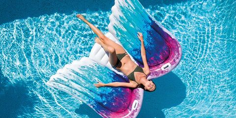 Float Your Way Into Summer on This Giant Angel Wings Pool Float