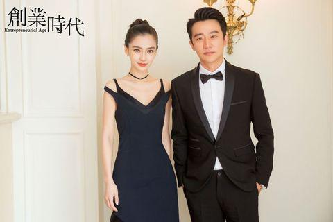 Suit, Formal wear, Clothing, Tuxedo, Dress, Fashion, White-collar worker, Event, Little black dress, Neck,