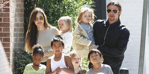 Brad Pitt y Angelina Jolie con sus 6 hijos: Maddox, Paz, Zahara, Shiloh, Vivienne y Knox