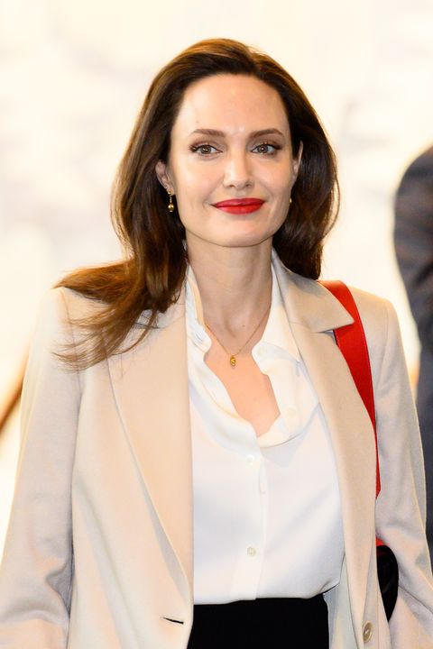 Angelina Jolie, Actor and UNHCR Special Envoy seen during...