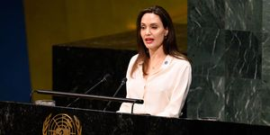 Angelina Jolie, Actor and UNHCR Special Envoy seen...