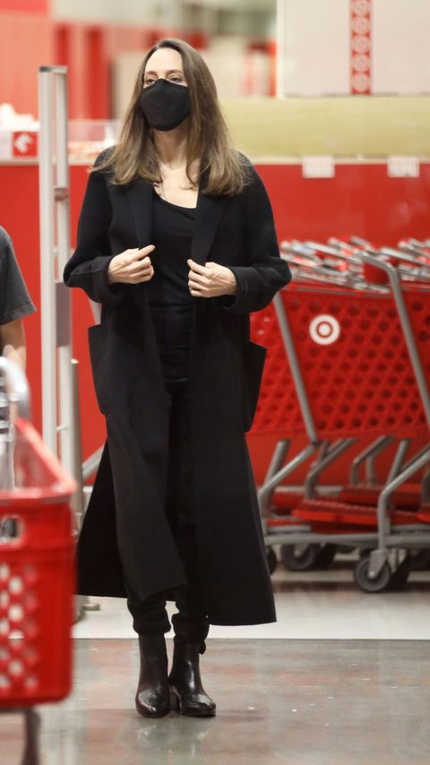 angelina jolie at target on sunday