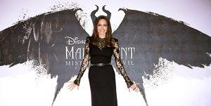 """Angelina Jolie en el estreno en Londres de """"Maléfica: Maestra del Mal"""""""