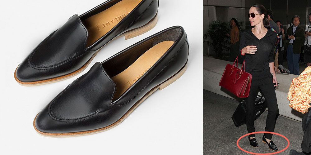 07cef246dce0 Angelina Jolie s Everlane Loafers Are Comfortable and Affordable
