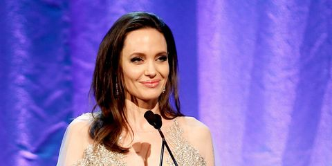 Angelina Jolie Looks Like a Literal Princess in this Glitzy Gown